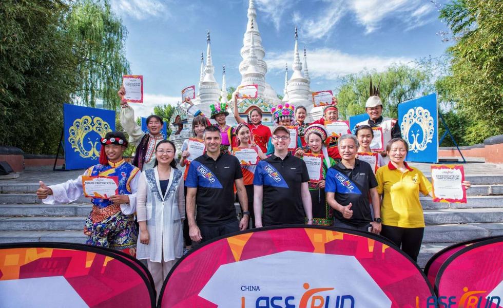 Suomen Biathlonin väki oli vieraana vuoden 2019 Kiinan Laser Run -tapahtumassa.