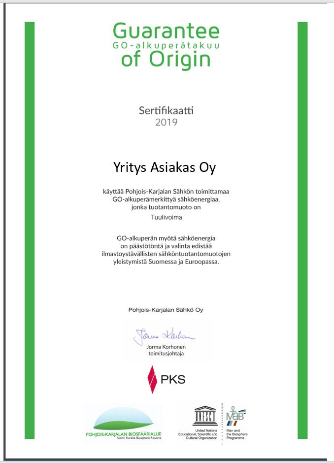 GO-sertifikaatti