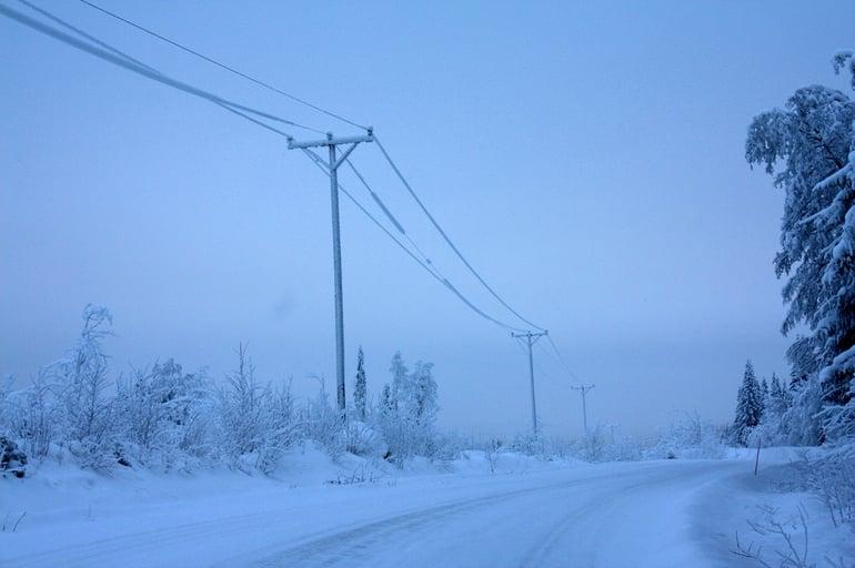 Heikkotuulisuudesta johtuen tuulivoiman osuus kokonaistuotannosta oli pakkaskautena vain 285 megawattia.